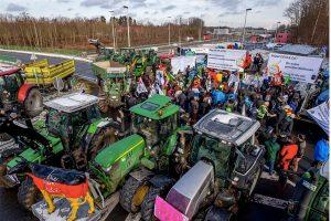 Farmers protest over EU trade policy