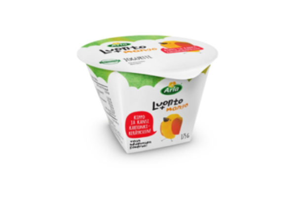 Aluminium-free lid for Arla dairy products